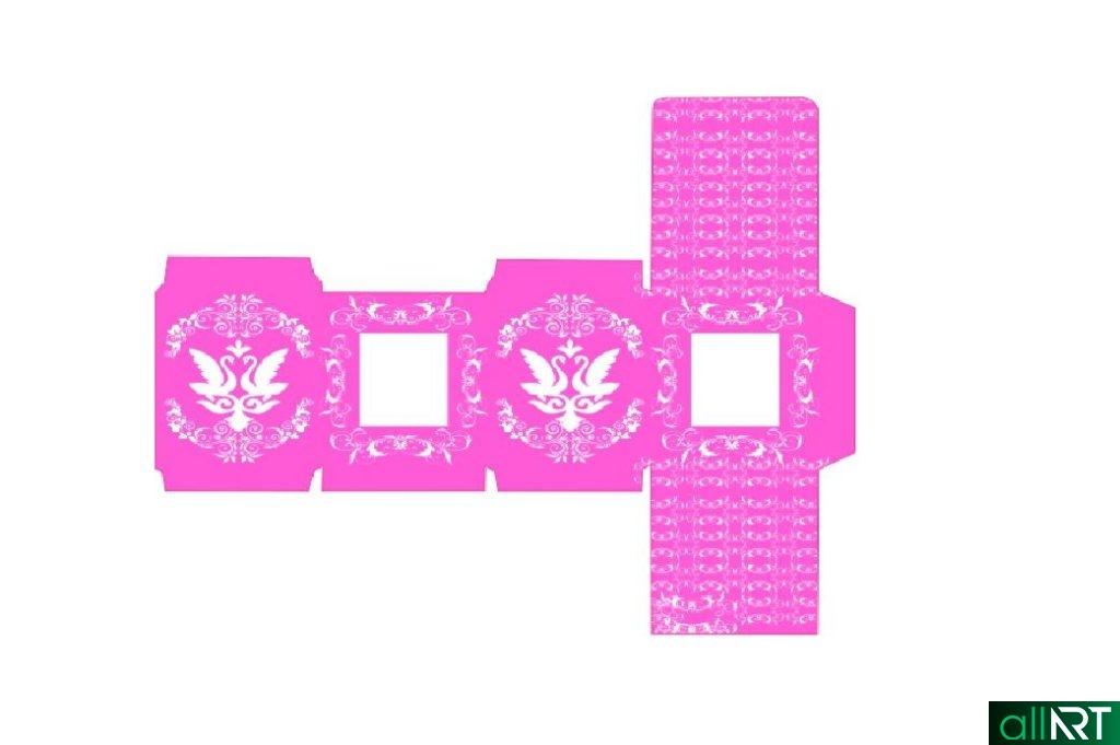 Бонбоньерка на свадьбу в казахском стиле шаблон в векторе [CDR]