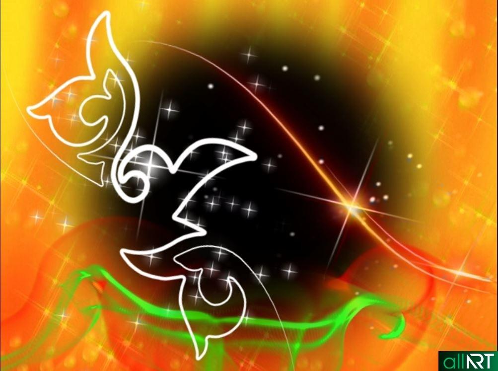 Футаж с рисующим казахским орнаментов в альфа канале [MOV]