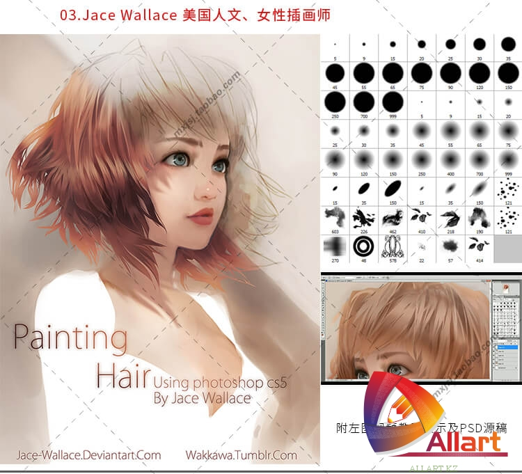 Профессиональные кисти для рисования в Фотошопа, Паинтер, Саи [Photoshop,Painter,SAI]