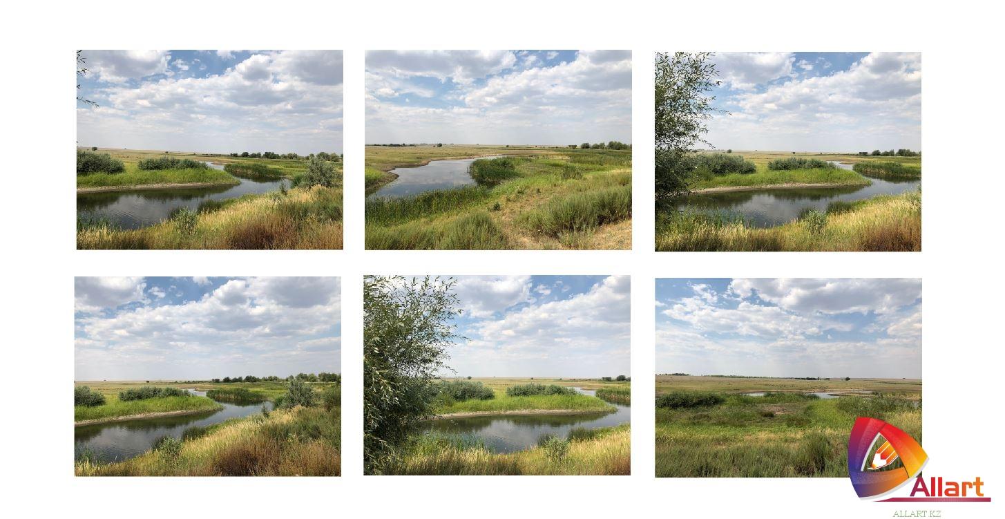 Фотографии хорошего качества западного Казахстана ( Актобе ) равнины, река, степь [JPG]