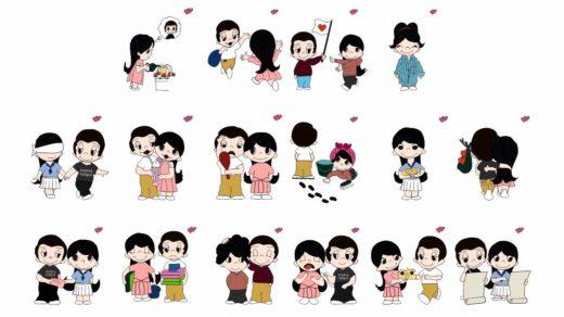 Персонажи love is , любовь это... в векторе [CDR]