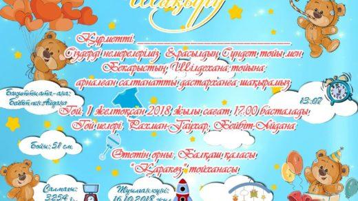 Детская пригласительная на день рождение [PSD]