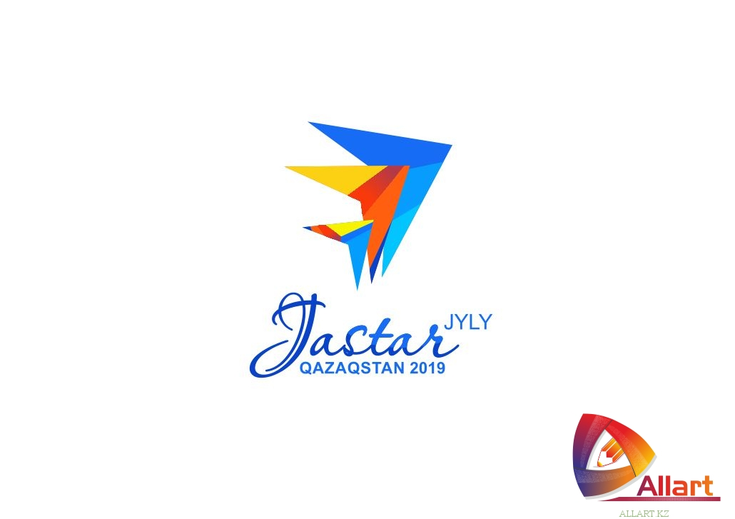 Логотип год молодежи Казахстана, Jastar Qazaqstan в векторе [CDR]