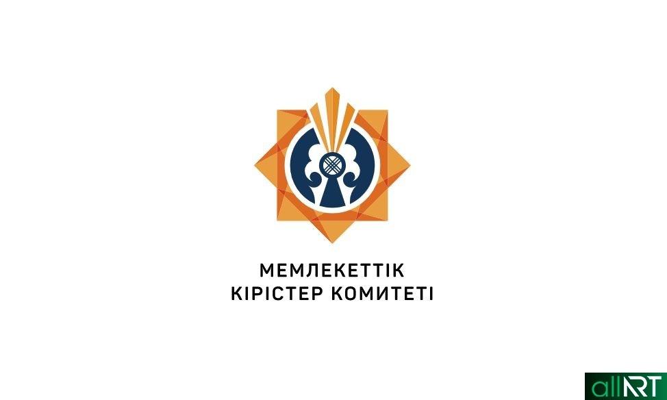 Новый логотип налоговой РК 2019, логотип Комитет государственных доходов РК 2019 [CDR]