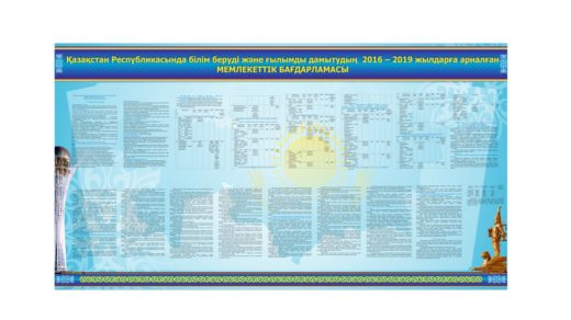 Стенд білім беруді және ғылымды дамытудың 2016 – 2019 жылдарға арналған [CDR] (урп.вариант)