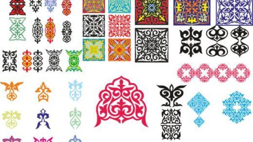 Казахские орнаменты для фона [CDR]