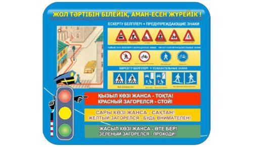 Стенд правила для пешехода на двух языках [CDR]