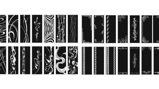 Орнаменты, узоры, роспись за стеклах, зеркалах [CDR]