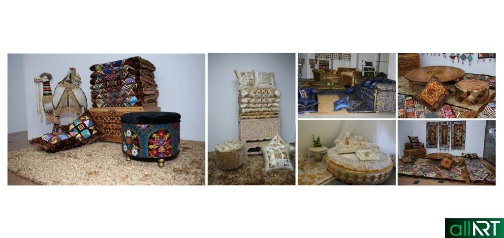 Фото высокого качества, казахская мебель, сундук, подушки, кровать, стол, курпешки [JPG]