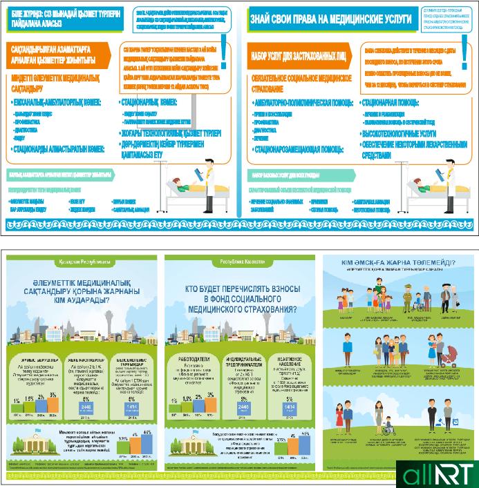 Стенды для поликлиники и больниц про медицинское страхование [CDR]