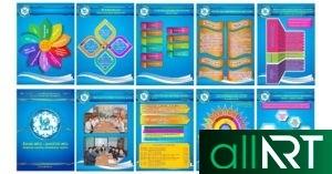 Шаблоны портфолио для учителя, ученика, класса, для мальчиков и девочек [JPG,WORD,PPT]