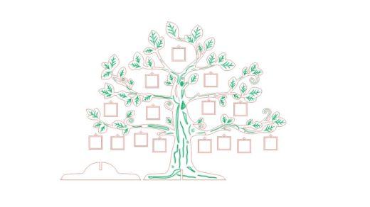 Дерево с портретами для лазерной резки [CDR]