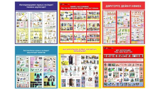 Баннера - плакаты ТБ по техники безопасности на казахском, для Казахстана [JPG]