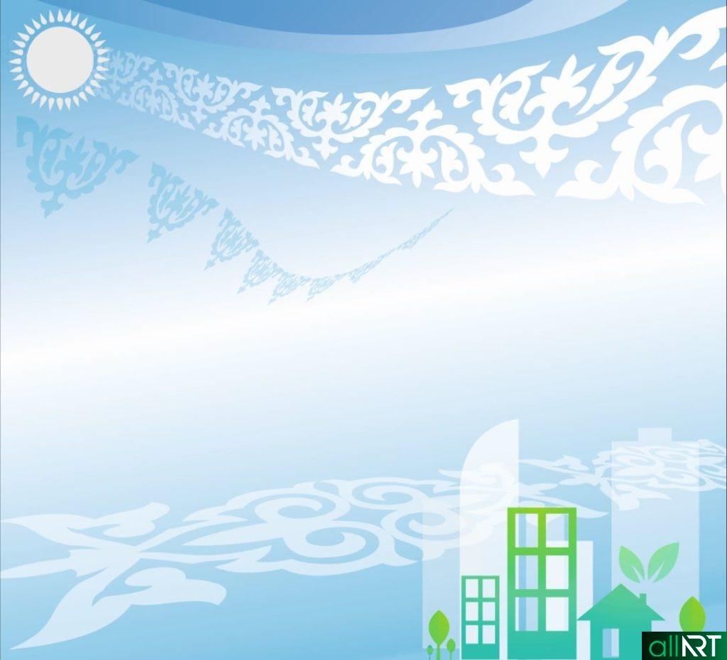 Абстрактный фон с казахским орнаментом в векторе [CDR]