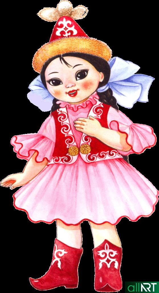 Девочка в казахском костюме [JPG]
