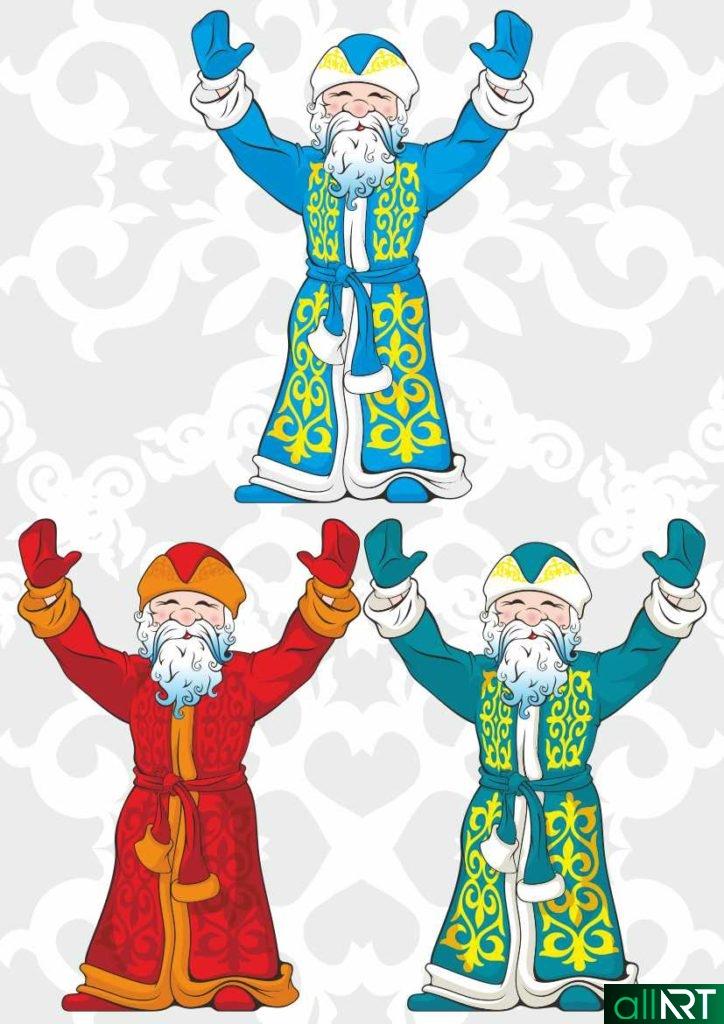 Аяз ата, дедушка мороз в казахском стиле [CDR]