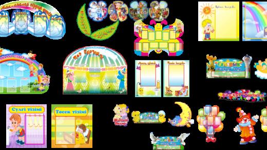 Стенды для детского сада в векторе [CDR]