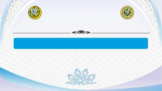Шаблон, баннер, стенд с казахскими орнаментами в векторе [CDR]