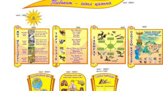 Стенды о природе и животных Казахстана в векторе [CDR]