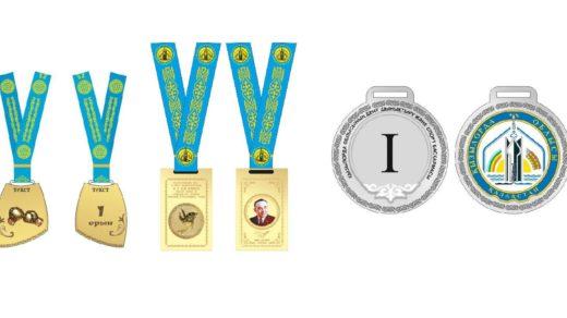 Спортивные шаблоны казахстанских медалей в векторе [CDR]
