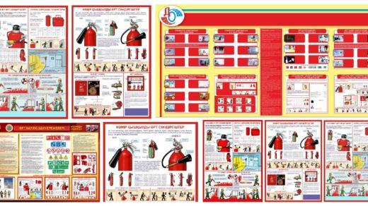 Техника безопасности при пожаре баннера, стенды, плакаты [JPG,CDR]
