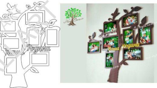Стенд в виде дерева, наша семья, наша родина в векторе [CDR]