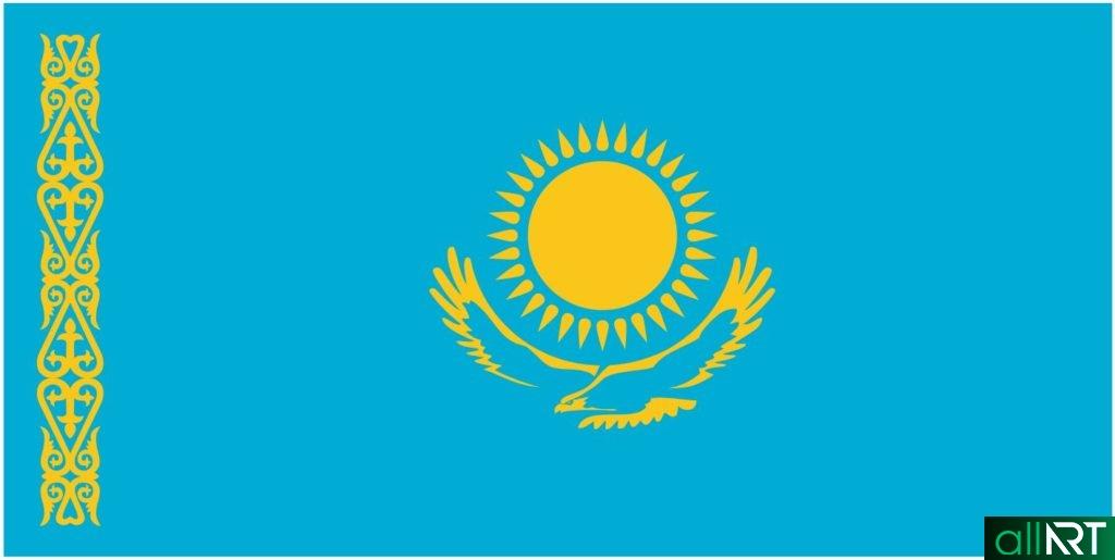 Флаг Казахстана в векторе [CDR]