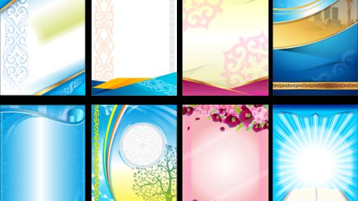 Красивые фоны в казахском стиле, фон для видео, презентации с казахским орнаментом в векторе [CDR]