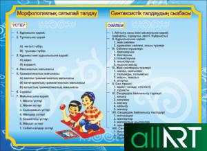 Комплект баннеров для школы, кабинет, физика, математика, информатика, русский язык, казахский [CDR]