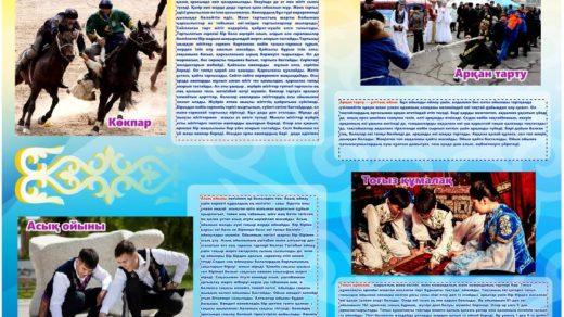 Стенд казахские национальные игры [CDR]