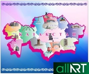 Карта Казахстана + карта стран СНГ для ежедневника [CDR]