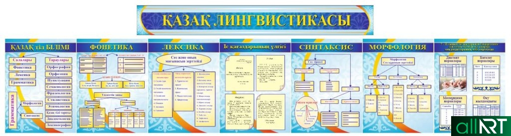 Комплект стендов казахская лингвистика, грамматика, казак лингвистикасы [CDR]