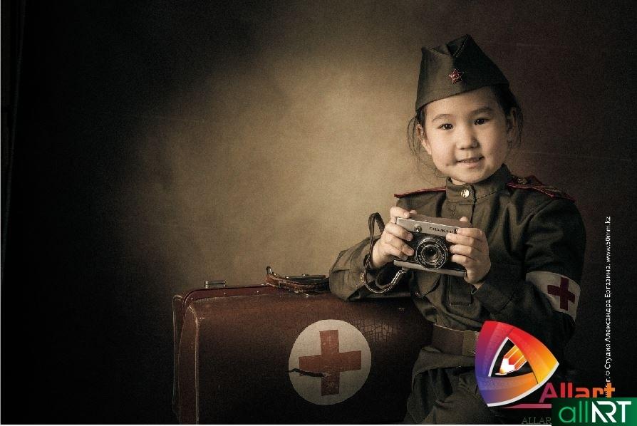 Серия детских фото на военную тематику [64шт, 5593х3723,CDR]