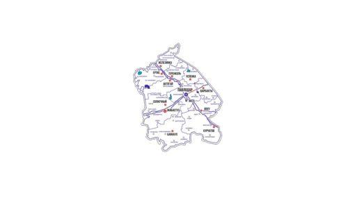 Карта Павлодара для резки [CDR]