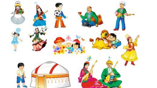 Казахские персонажи в векторе [CDR]