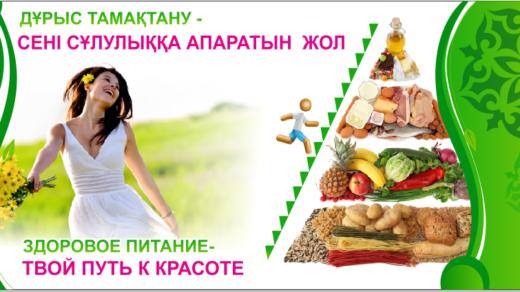 Баннер здоровое питание - путь к красоте [CDR]