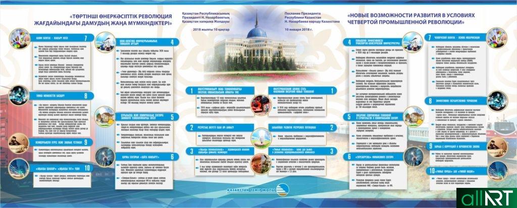 Стенд послание президента РК 2018 года [CDR]