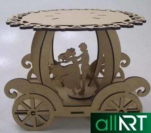 Детская мебель для лазерной резки [CDR, DWG]
