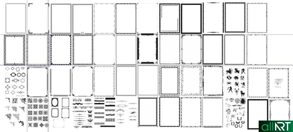 Рамки в векторе для фото, грамот с казахскими орнаментами [CDR]