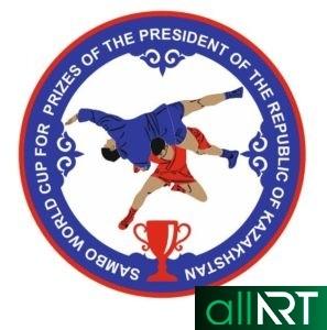 Баннер по волейболу Казахстан с орнаментами [CDR]