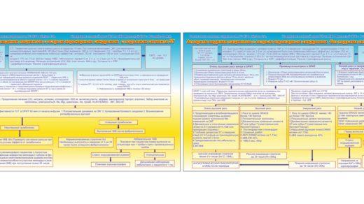 Стенд Алгоритм ведения пациентов с острым коронарным синдромом  без подъема сегмента ST [каз, рус, CDR]