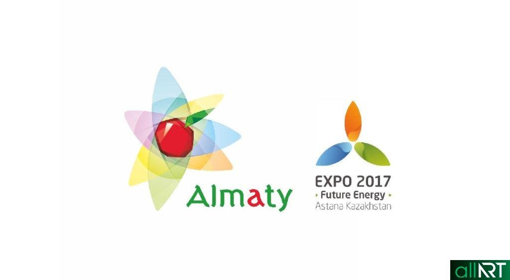 Новый логотип Алматы, EXPO в векторе [CDR]