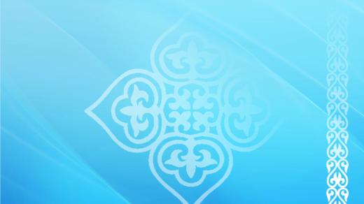Фон с казахским орнаментом для баннера, презентации в векторе [CDR]
