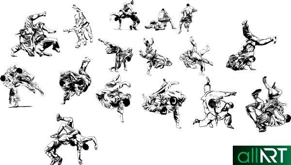 Спортивные элементы для создания грамот, баннеров [CDR]