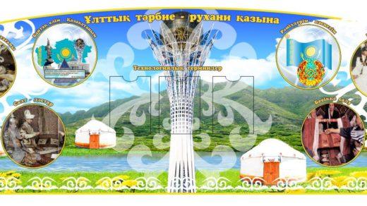 Стенд в коридор о Казахстане в векторе [CDR]