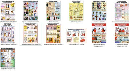 Стенд, плакаты техника безопасности [JPG, CDR, русский, казахский, каз.латиница]
