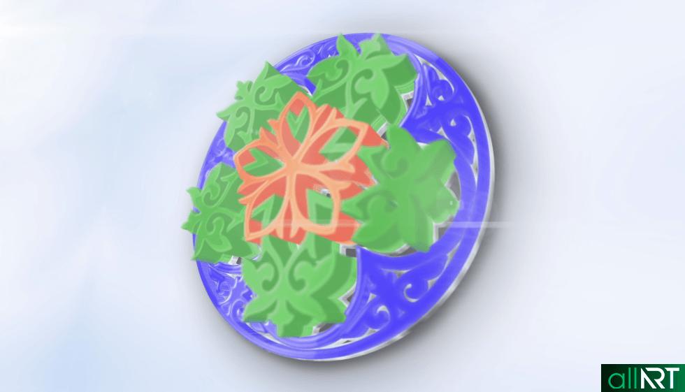 Футаж с казахскими орнаментами, узорами [ 1920x1080, MOV ]