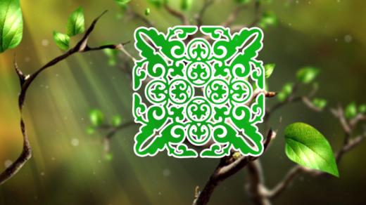 Красивый футаж с казахские орнаменты на дереве [ 1280х720, MOV ]