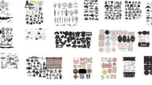 Элементы для открыток пригласительных, тойга шакыру, пресс-стены, баннера [CDR]