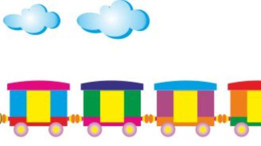 Детский паровоз для оформления детского сада [CDR]